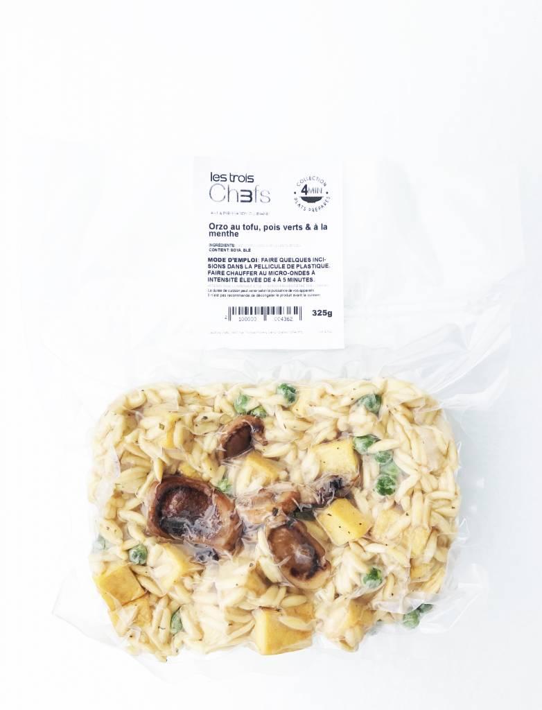 Orzo au tofu, champignons, pois verts & a la  menthe (325g)