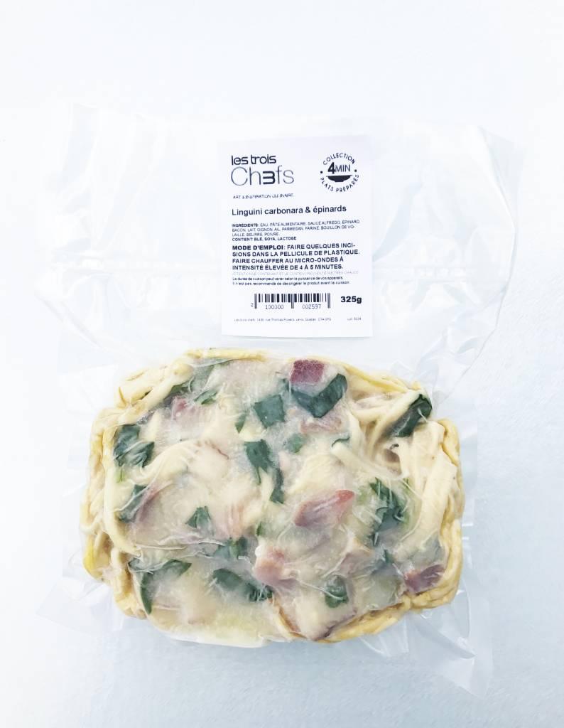Linguini carbonara & épinards (325 g)