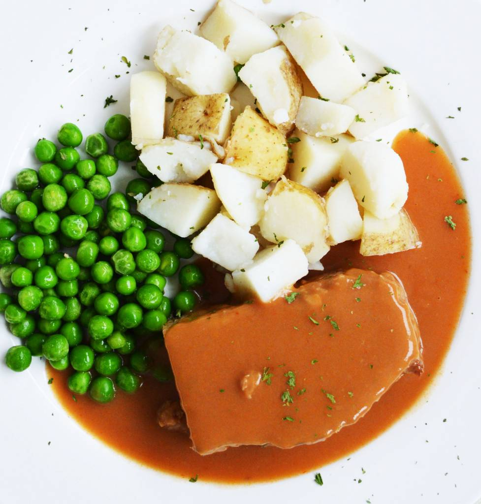 Pain de viande, patates en dés & pois verts (325 g)