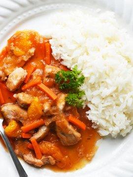 NOUVEAU Filet de porc, mandarines, gingembre & riz jasmin (325 g)