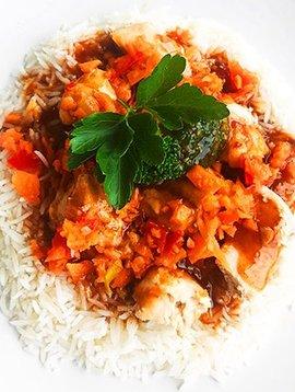 Poulet Général Tao, légumes & riz basmati (325 g)