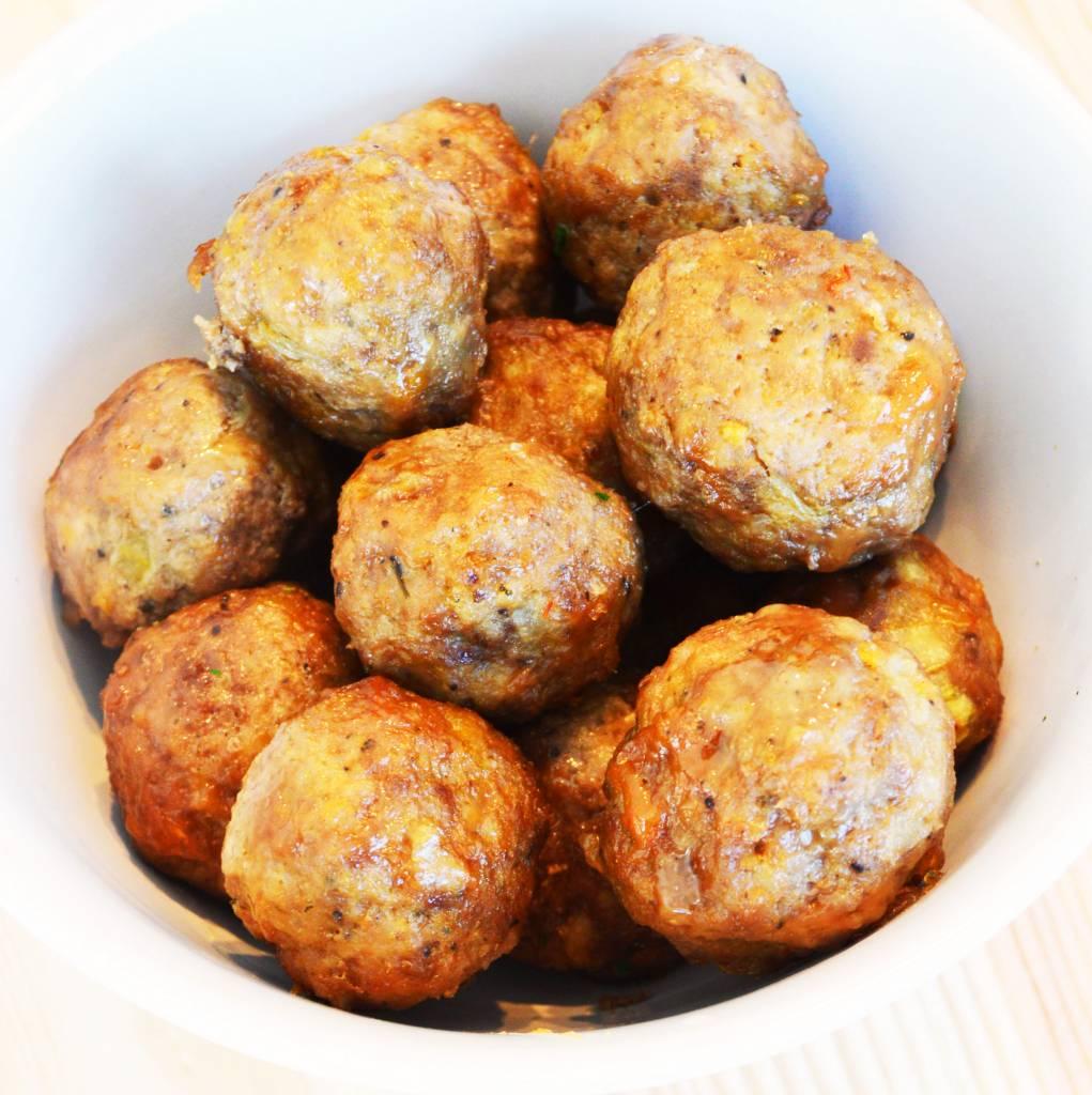 Boulettes porc & boeuf sauce aigre-douce