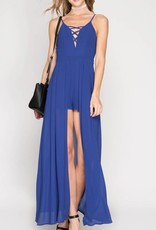 Maxi Romper with Cross Detail- 2 Colors
