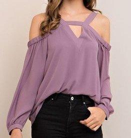 Dark Lilac Grey Top