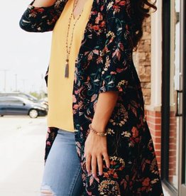 Floral Wrap Duster