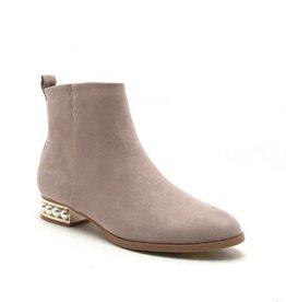 Best Shoes Pamela Pearl Heel Bootie- Taupe