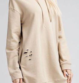 Distressed Hoodie Dress