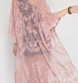 Blush Lace Midi Duster