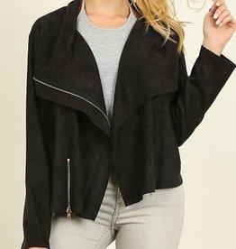 Black Suede Moto Jacket