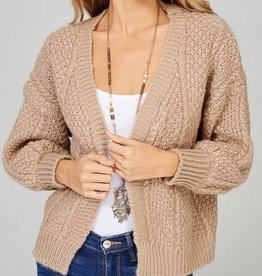 Main Strip Sweater Knit Cardi