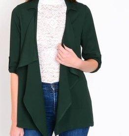 Lulumari Hunter green Waterfall Jacket