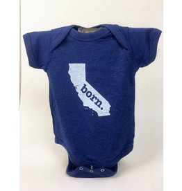 Home State Apparel CA BORN Onesie - Royal Blue
