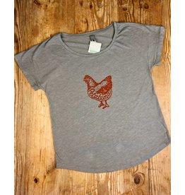 Blockhead Press Petaluma Chicken Women's Dolman Scoop Neck T-Shirt