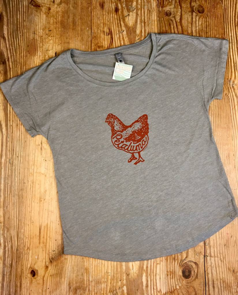 Blockhead Press Petaluma Chicken Women's Dolman Scoop Neck T-Shirt