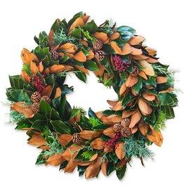 """Little Gem & Berries Wreath - 18"""""""