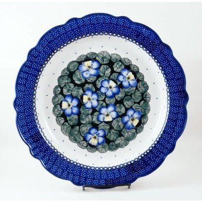 Pansies Scalloped Platter 34