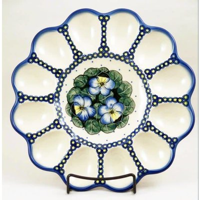 Pansies Egg Plate