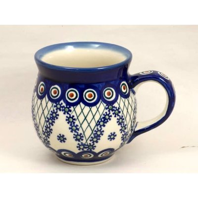 Fancy Peacock Bubble Mug -- Lrg