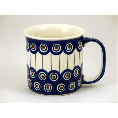 Lined Peacock Straight Mug
