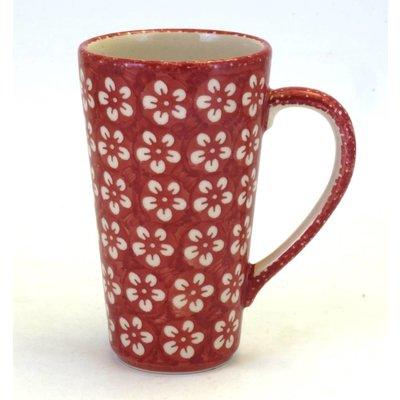 Scarlet Blossom Tall John Mug