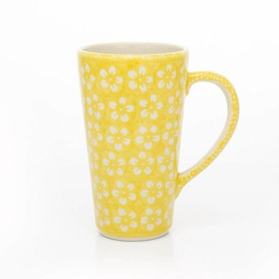 Yellow Blossom Tall John Mug