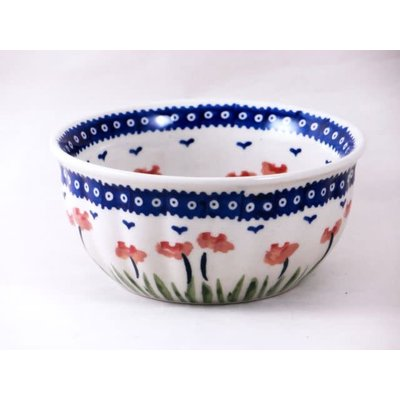 Red Poppies F15 Fluted Cereal Bowl