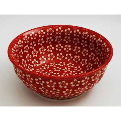 Scarlet Blossom F18 Fluted Chili Bowl