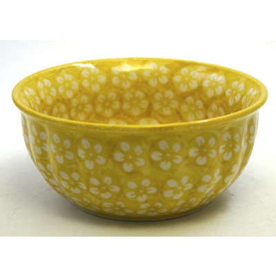 Yellow Blossom F18 Fluted Chili Bowl