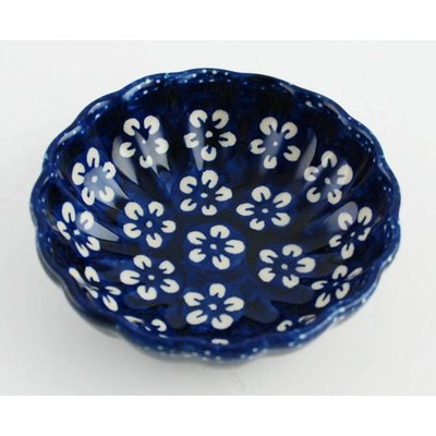 Blue Blossom Scalloped Dish 12