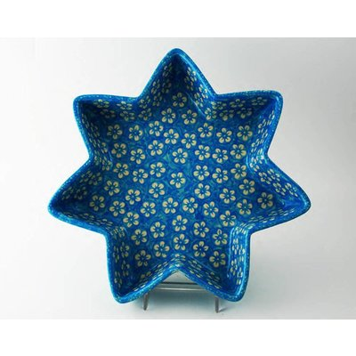 Turquoise Blossom Star Dish