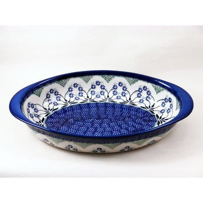 Forget Me Nots Oval Baker Medium