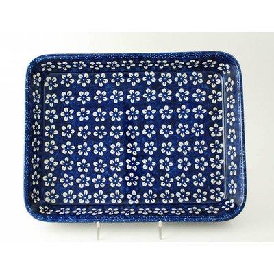 Blue Blossom Rectangular Baker - Med