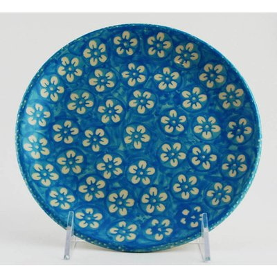 Turquoise Blossom Dessert Plate 18