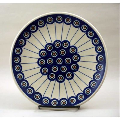 Lined Peacock Salad Plate 22