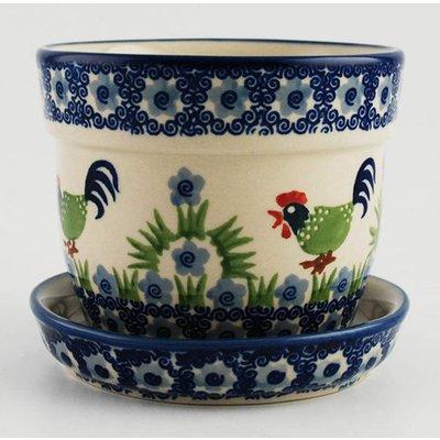 Rise & Shine Flower Pot w/Saucer - Sm