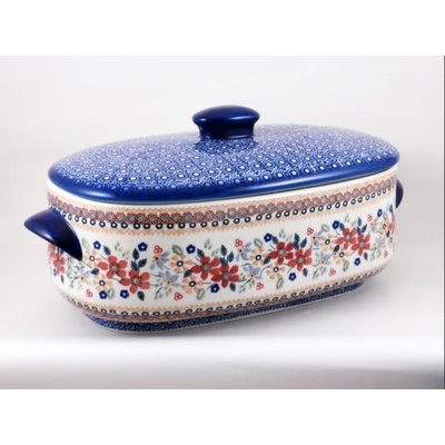 Posies Covered Casserole - Med