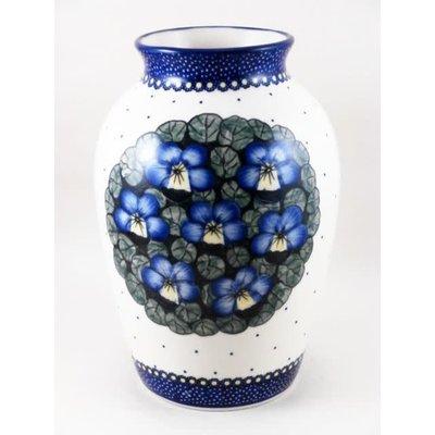 Pansies Folk Vase