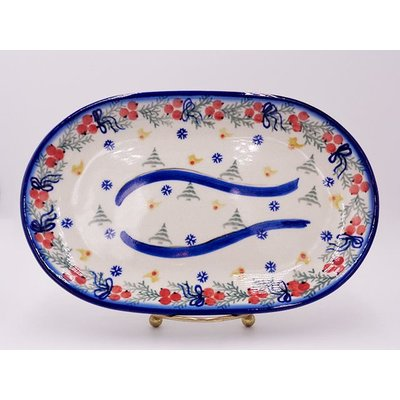 Winter Oval Dish 24