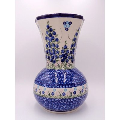 Kalich Blue Berries Kanciaty Vase