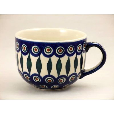 Peacock Latte Cup