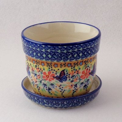 Viktoria Flower Pot w/ Saucer - Sm