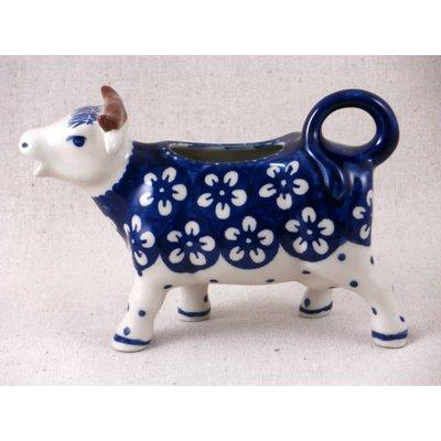 Blue Blossom Cow Creamer
