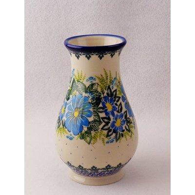 Kalich Blue Zinia Wazon Vase - Sm