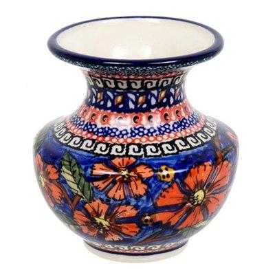 Red Ruffles Classic Vase