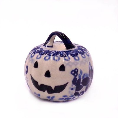 Indigo Garden Pumpkin Ornament
