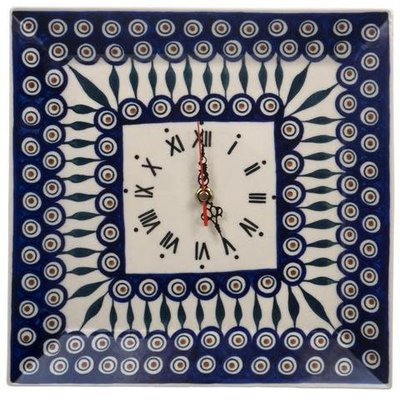 Peacock Square Wall Clock