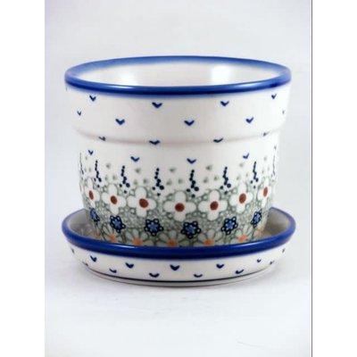 Daisy Jane Flower Pot w/ Saucer - Sm