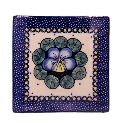 "Pansies 6"" Square Tile"