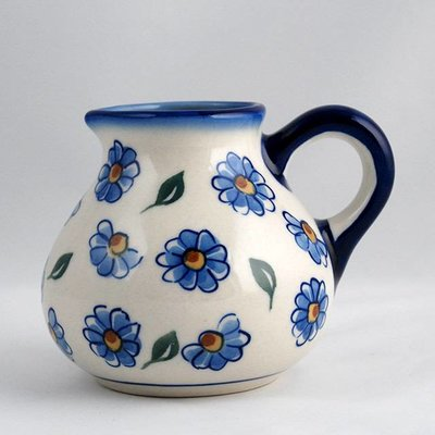 Painted Daisy Belly Pitcher - Sm
