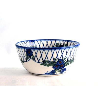 Lattice in Blue Dessert Bowl 13
